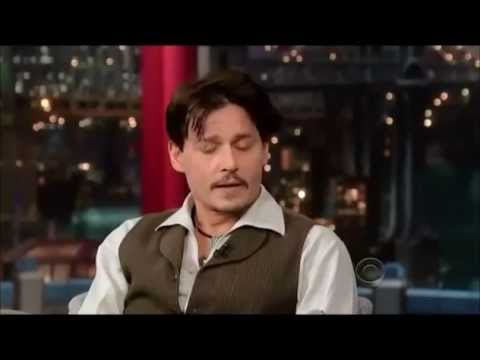 JOHNNY DEPP - Complete Interview at David Letterman Late Show - April 3, 2014