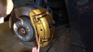 BMW E92 335i Painting Brake Calipers   Prestige Gold Foliatec