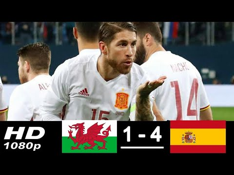 Spain vs Wales 4-1 Goals & Highlights HD 2018