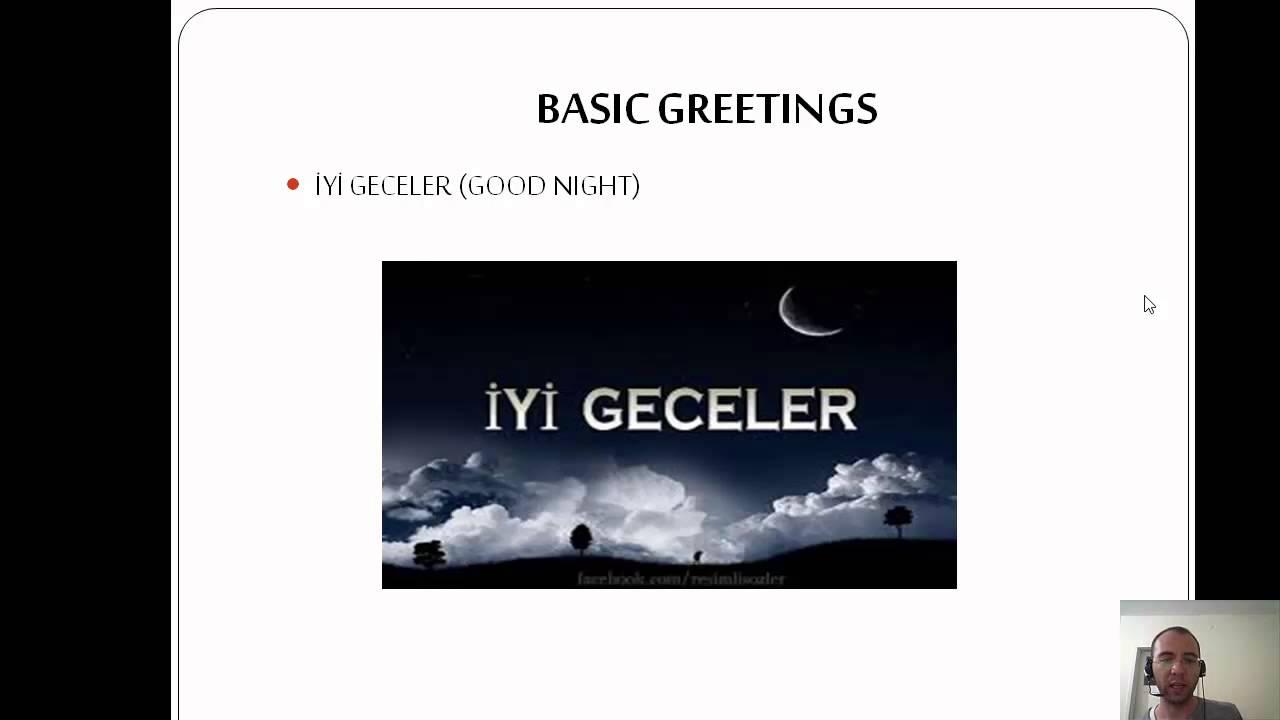 Basic Greetings In Turkish Youtube