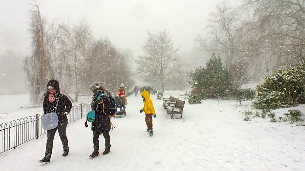 London Walk Blizzard At St James S Park Beast From