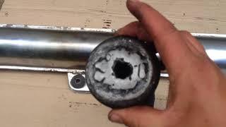 Как почистить выхлопную трубу мотоцикла Минск