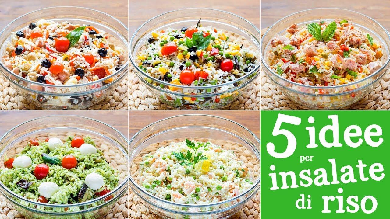 Ricetta Per Fare Linsalata Di Riso.5 Idee Per Insalata Di Riso Wurstel Pesto Verdure Tonno Gamberetti E Salmone Youtube