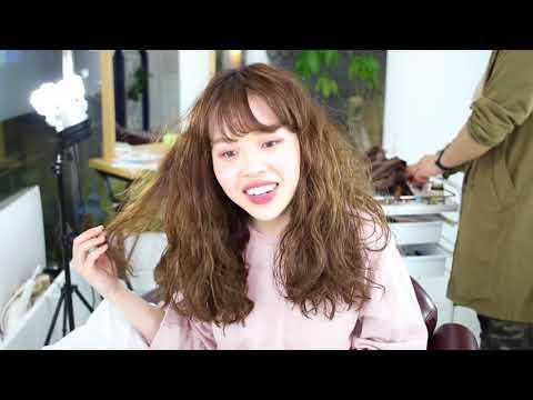 【くるりんぱ ハーフアップ 簡単】ハーフツイン くるりんぱ コツ 前髪 シースルーバング パーマ