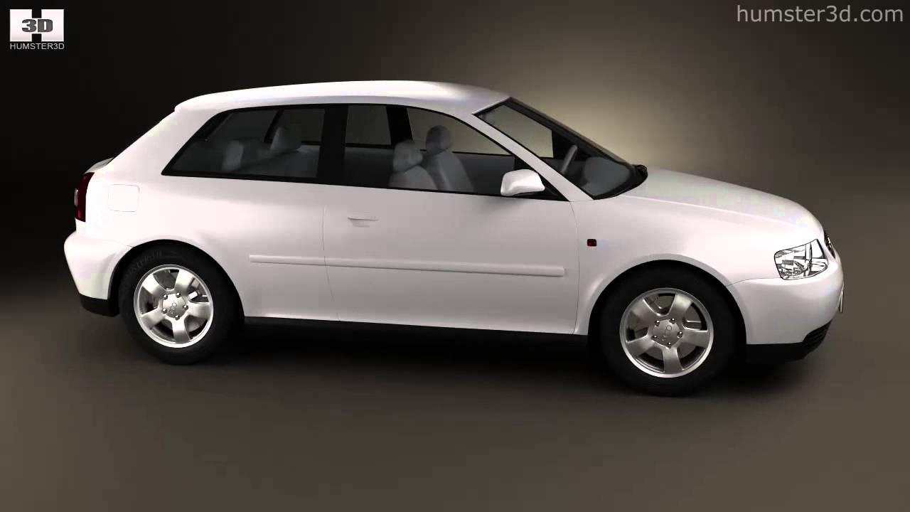 Audi a3 8l 3 door 2003 by 3d model store for Mueble 2 din audi a3 8l