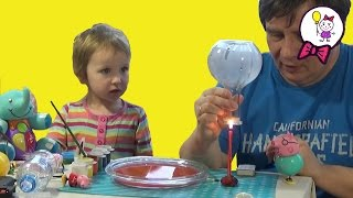 Простые фокусы с водой для детей в домашних условиях. Графин пьёт воду Свинка Пепа смотрит(Простые фокусы для детей в домашних условиях можно подготовить за несколько минут. В этом видео для детей..., 2016-02-13T21:42:29.000Z)
