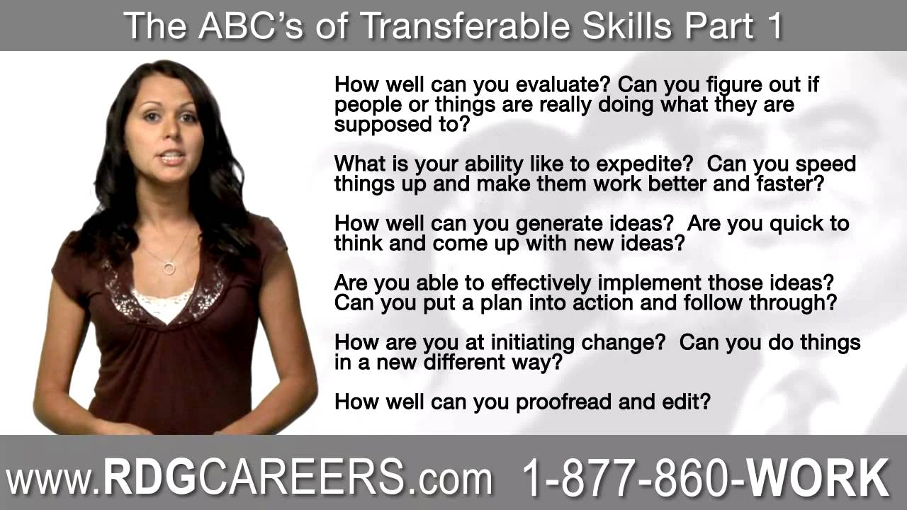 rdg careers transferable skills part  rdg careers transferable skills part 1