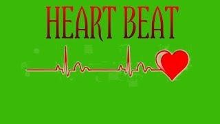 Heart beat green screen