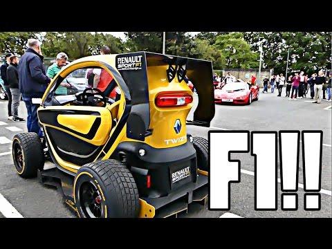 MCLAREN F1 VS RENAULT TWIZZY F1!!