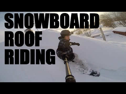 CRAZY RUSSIAN'S SNOWBOARD ROOF RIDING
