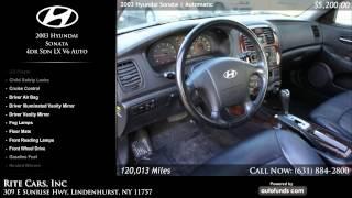 2003 Hyundai Sonata 4dr Sdn LX V6 Auto | Rite Cars, Inc, Lindenhurst, NY - SOLD