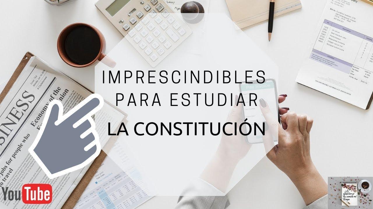 Constitución Española Qué Uso Para Estudiarla Los Esquemas De Martina Y 1040 Preguntas Youtube