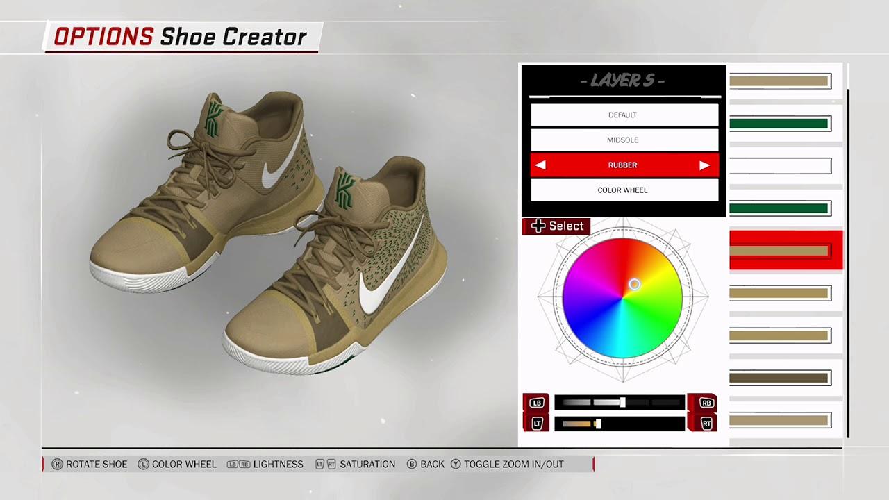 ca814ad3c894 NBA 2K18 Shoe Creator - Nike Kyrie 3