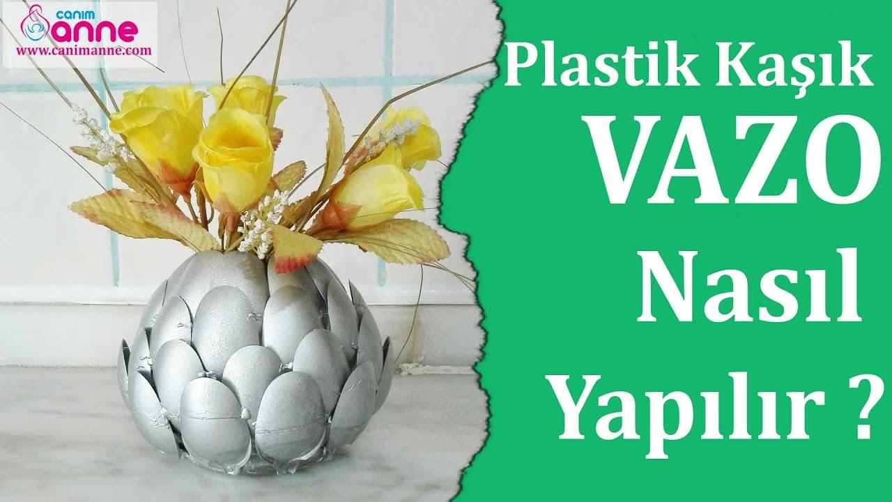 Plastik Kaşıklardan Dekoratif Mumluk Yapımı