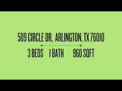 SOLD: 509 Circle Dr Arlington TX 76010