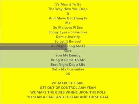 Rico Bernasconi Feat. Sean Paul - Ebony Eyes - LYRICS