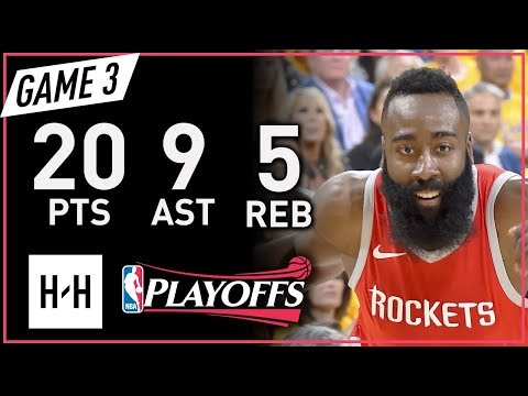 James Harden Full Game 3 Highlights vs Warriors 2018 NBA Playoffs WCF - 20 Pts, 9 Ast, 5 Reb!