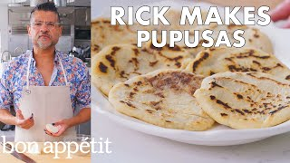 Rick Makes Pupusas (Fried Corn Fritters) | From the Test Kitchen | Bon Apptit