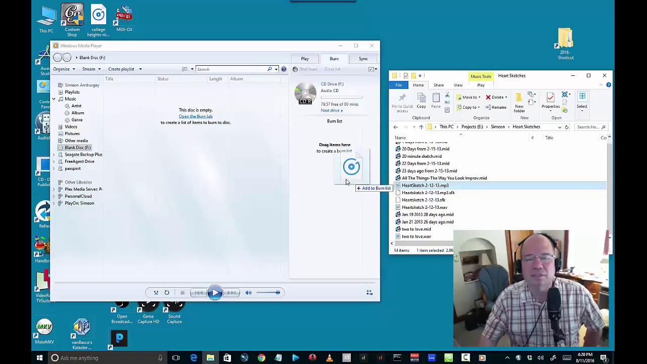 how to copy a file into a cd in windows 10