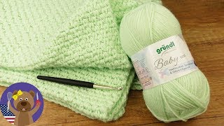 Baby Blanket DIY 70x90cm | Easy Crocheting Pattern | Crochet Projects for Beginners