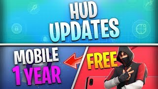 Fortnite Mobile News | HUD Updates, Mobile Year Celebration, Free Android Skin, AND MORE!