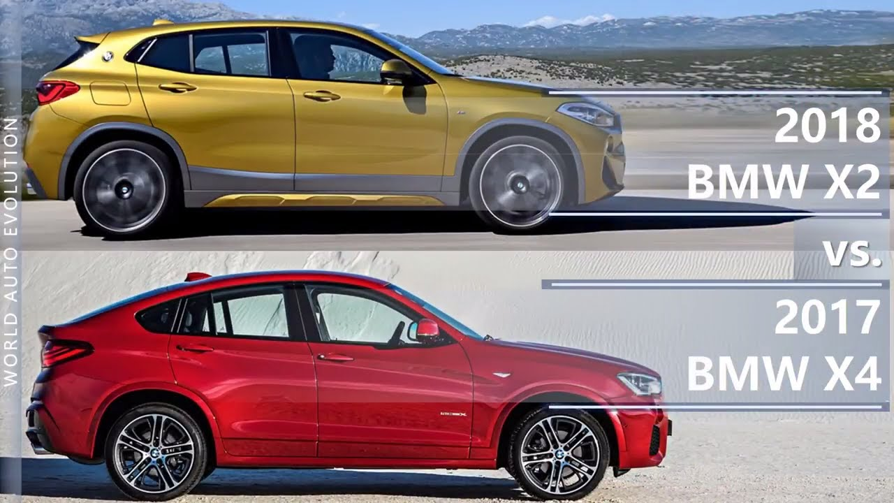 2018 Bmw X2 Vs 2017 Bmw X4 Technical Comparison Youtube