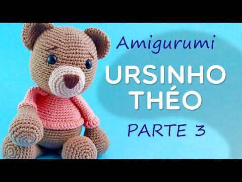 Amigurumi Urso Théo Parte 3 - Passo a Passo por Glê Negri