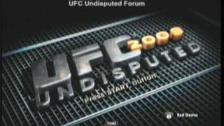 UFC 2009 Undisputed Demo: Menu and Options