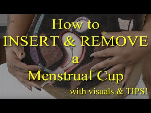 How To Insert And Remove A Menstrual Cup Tips Youtube