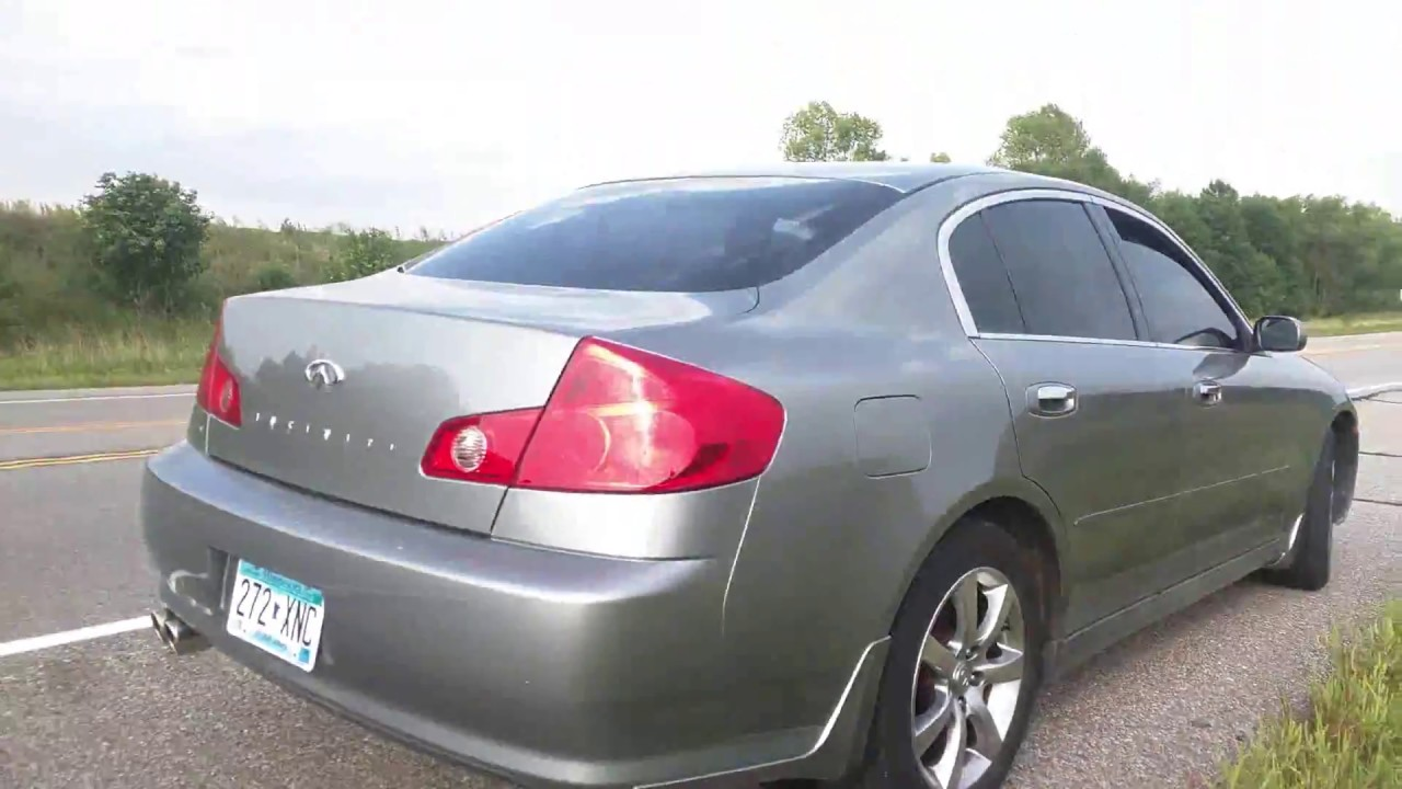 2005 infiniti g35 sedan muffler delete [ 1280 x 720 Pixel ]