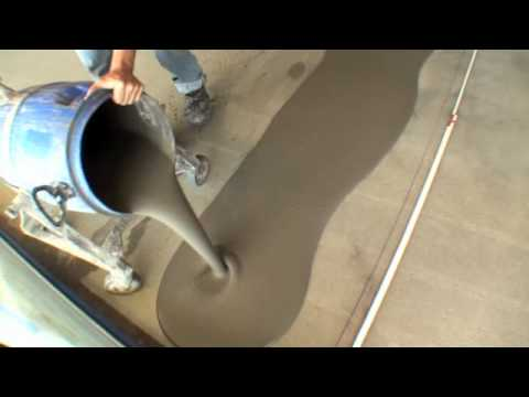 Pouring a concrete topping floor youtube for Pouring concrete garage floor
