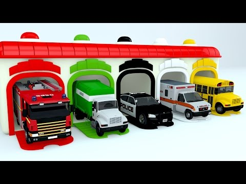Thumbnail: Colors for Children to Learn with Street Vehicles - Colours for Kids to Learn - Learning Videos