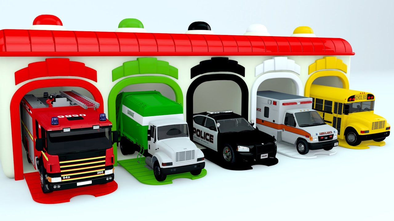 Colors for Children to Learn with Street Vehicles - Colours for Kids ...