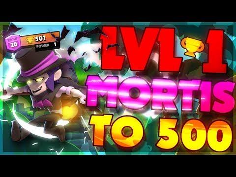 LEVEL 1 MORTIS 500 TROPHIES! Brawl Stars Best Tips & Tricks
