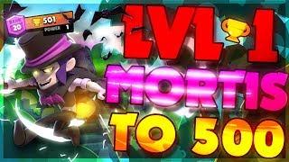 LEVEL 1 MORTIS 500 TROPHIES! Brawl Stars Best Tips u0026 Tricks