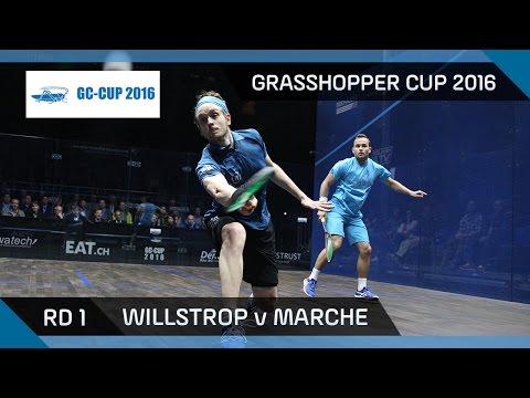 Squash: Willstrop v Marche - Grasshopper Cup 2016 - Rd 1 Highlights