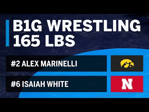 165 LBS: #2 Alex Marinelli (Iowa) vs. #6 Isaiah White (Nebraska) | Big Ten Wrestling