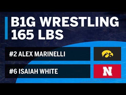 165 LBS: #2 Alex Marinelli (Iowa) vs. #6 Isaiah White (Nebraska) | Big Ten Wrestling