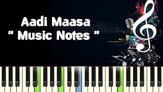Aadi Maasa (paayum puli) Piano, Guitar, Saxophone, Voilin Notes /Midi Files /Karaoke