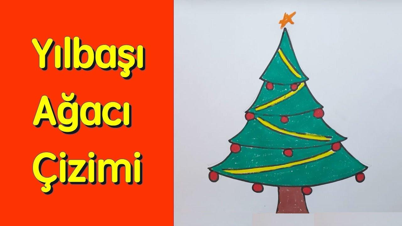 Kolay Yilbasi Agaci Cizimi How To Draw A Christmas Tree Youtube