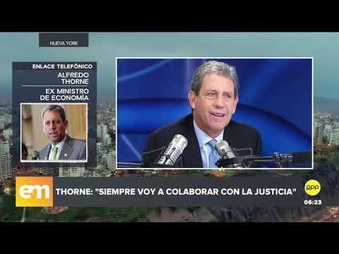 """Alfredo Thorne: """"Hay que colaborar con la Justicia, más allá de los nombres o personas involucradas"""""""