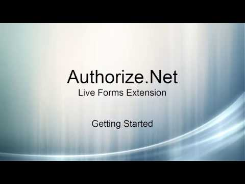 Authorize.Net: Live Forms Extension Getting Started