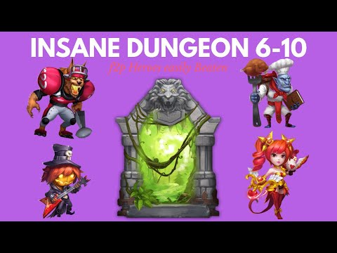 How To Beat Insane Dungeon 6-10 F2P Heros!!!