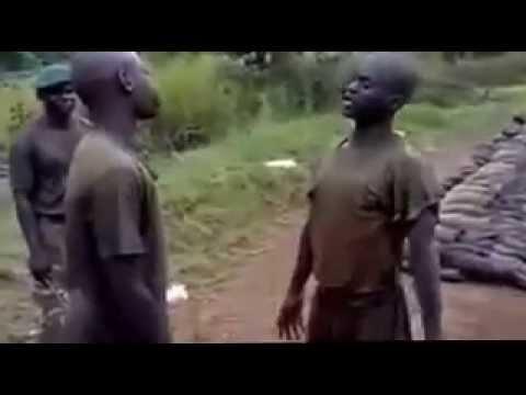 Uganda Military recruits punishment - YouTube