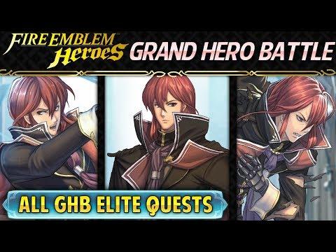 Fire Emblem Heroes - Grand Hero Battle: Michalis INFERNAL All GHB Elite Quests w/F2P & Common Units!