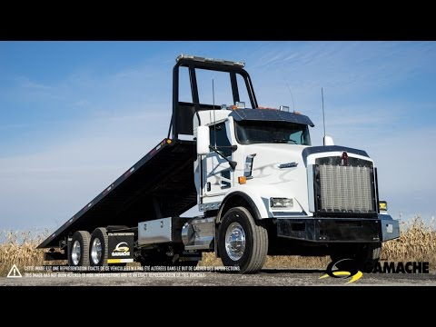 Kenworth T800 2013 Roll Back Tow Truck For Sale Youtube