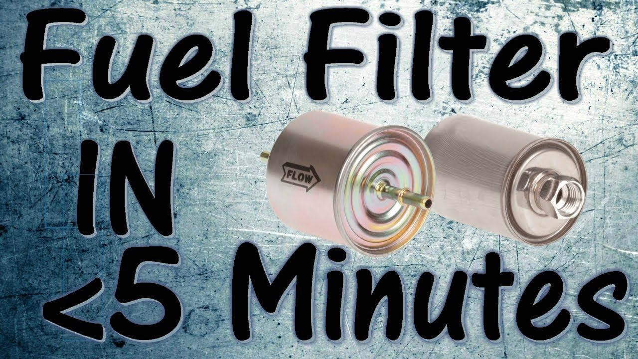 grand prix fuel filter change in less than 5 minutes! (easy)
