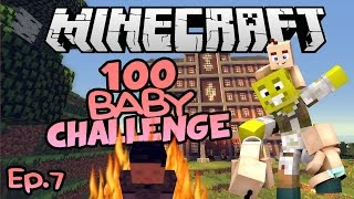 Evil Children...| Minecraft 100 Baby Challenge Ep.7
