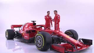 F1 2018 - Ferrari SF71H launch - Vettel & Raikkonen interviews