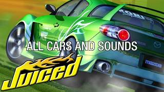 Juiced (PS2) - Gameplay - All vehicles and sounds